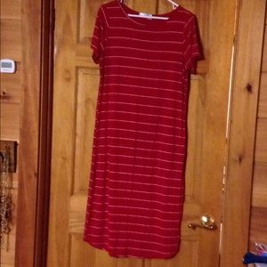 RED❤️❤️for Valentines Day !!Tshirt long dress